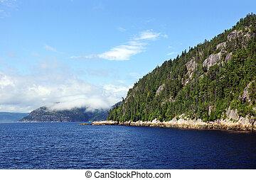 nordlig, fjord