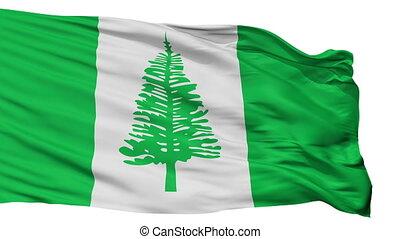Norfolk Island Flag Isolated Seamless Loop - Norfolk Island...