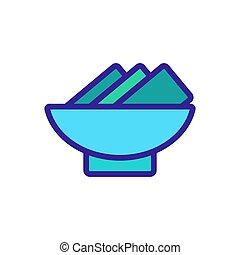 nori, icône, rouleaux, vecteur, contour, illustration