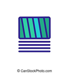 nori, icône, sushi, vecteur, contour, illustration