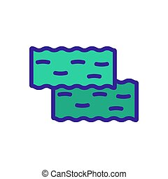 nori, icône, vecteur, contour, illustration