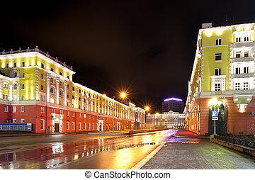 Norilsk colorful cityscape