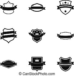 Norm icons set, simple style - Norm icons set. Simple set of...