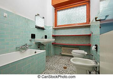 Normal bathroom in old apartment interior