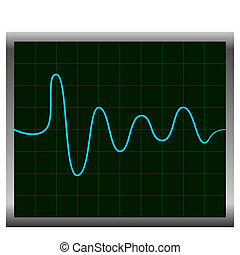 Normal ECG (electronic cardiogram) blue