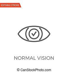 Normal Vision Vector Icon