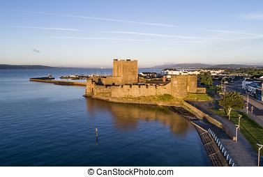 Norman Carrickfergus castle near Belfast