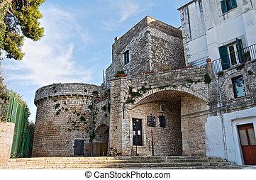 Norman Castle. Conversano. Apulia.