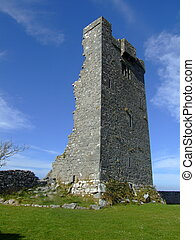 Norman castle ruins - ruins of Norman castle dating to the...
