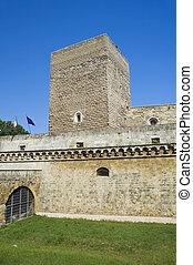 norman-swabian, castle., bari., apulia.