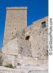 Norman swabian castle of Deliceto. Puglia. Italy.