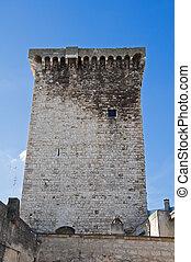 Norman Tower. Rutigliano. Apulia.