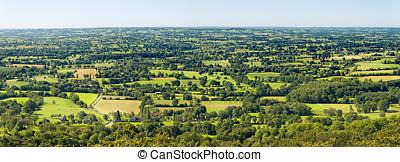 normandie, landskap, panorama
