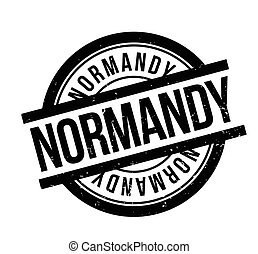 Normandy rubber stamp. Grunge design with dust scratches....