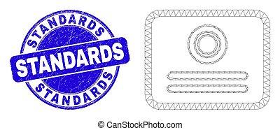 norme, certificato, blu, graffiato, francobollo, web, ...