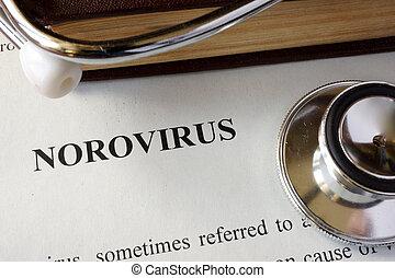norovirus, página, diagnóstico