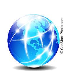 norr, och, sydamerika, global