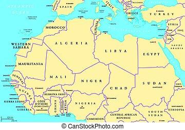 karta norra afrika Europa, afrika, politisk, karta. Europa, karta, antenn, politisk  karta norra afrika