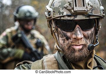 norsk, bevæbne fremtvinge, soldater