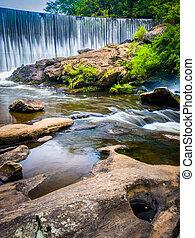 norte, dique, río, caroli, tierras altas, cascadas,...