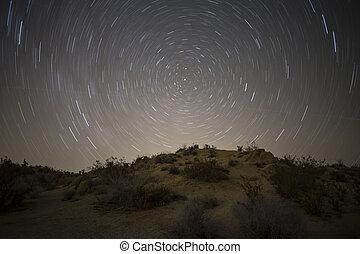 norte, mojave, estrela, deserte noite