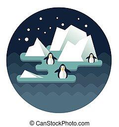 norte, penguins02, poste