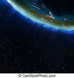 norte, rússia, espaço
