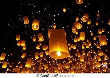 norte, yeepeng, globo, chiangmai, /, fire/, tailandia