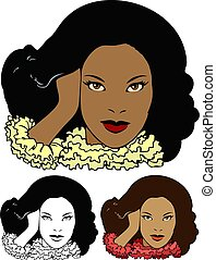 norteamericano, africano, modelo