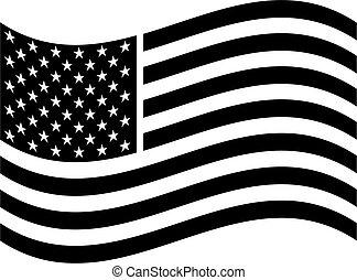 norteamericano, arte, bandera, clip