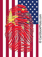 norteamericano, chino, identidad