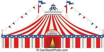 norteamericano, cima grande, circo