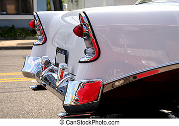 norteamericano, clásico, automóvil