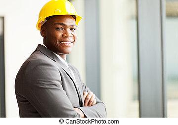 norteamericano, construcción, director, africano