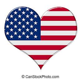 norteamericano, corazón