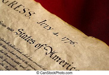 norteamericano, día, independencia