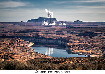 norteamericano, desierto, formaciones