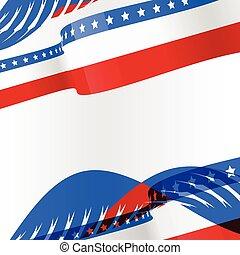 norteamericano, diseño, bandera, plano de fondo