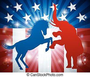 norteamericano, elección, concepto