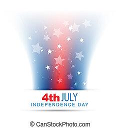 norteamericano, estilo, diseño, bandera, onda