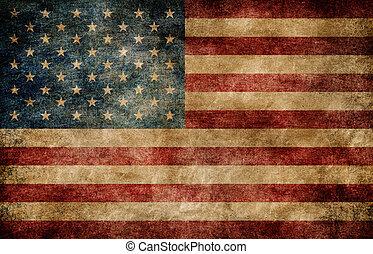 norteamericano, flag.