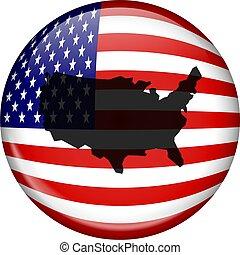 norteamericano, globo