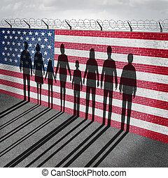 norteamericano, inmigración