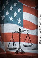 norteamericano, ley, y, justicia
