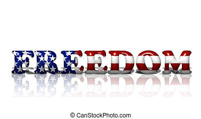 norteamericano, libertad
