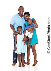 norteamericano, longitud completa, familia , africano