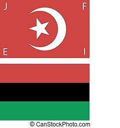 norteamericano negro, banderas, nationalist
