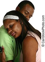 norteamericano, pareja, africano