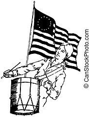 norteamericano, patriota
