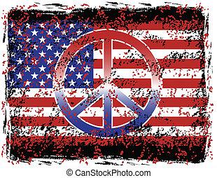 norteamericano, paz